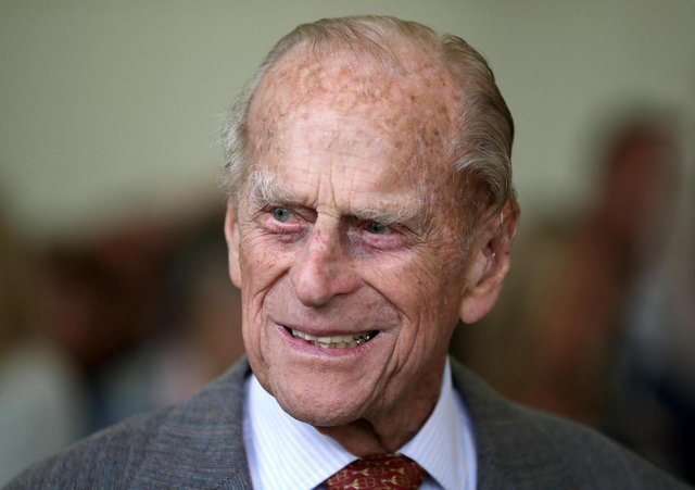 Prince Philip, Duke of Edinburgh at the Presentation Reception for The Duke of Edinburgh Gold Award holders in the gardens at the Palace of Holyroodhouse in Edinburgh in 2017. Picture: Jane Barlow/AFP via Getty Images