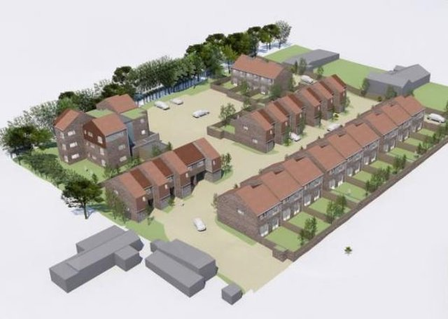 An artists' impression of the development