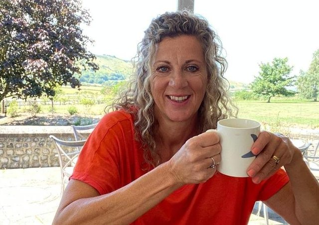 Sally Gunnell at her home in Sussex