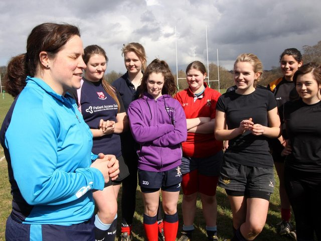 England's Clair Purdy at Uckfield RFC girls' training  / Picture: Ron Hill