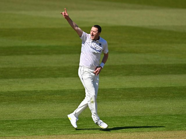 Ollie Robinson bowled well again on day three in Cardiff / Picture: Getty