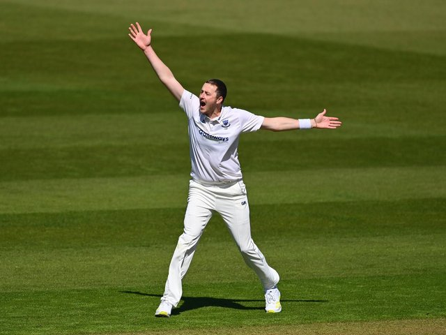 Ollie Robinson took 13 wickets against Glamorgan - including nine in the second innings / Picture: Getty