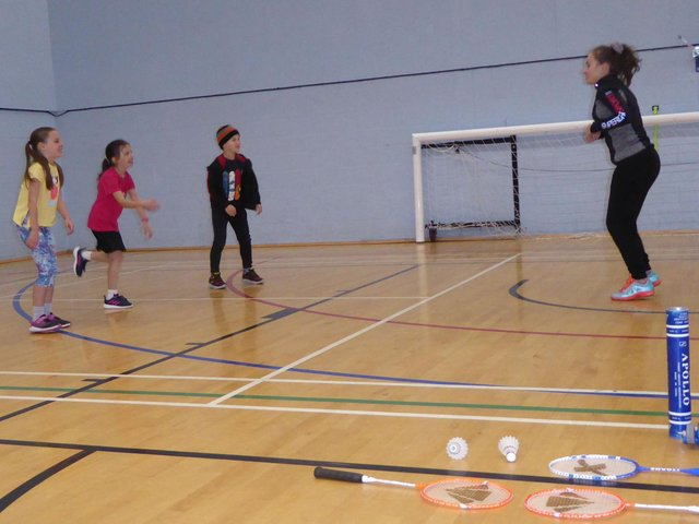 The junior badminton academy sessions have restarted