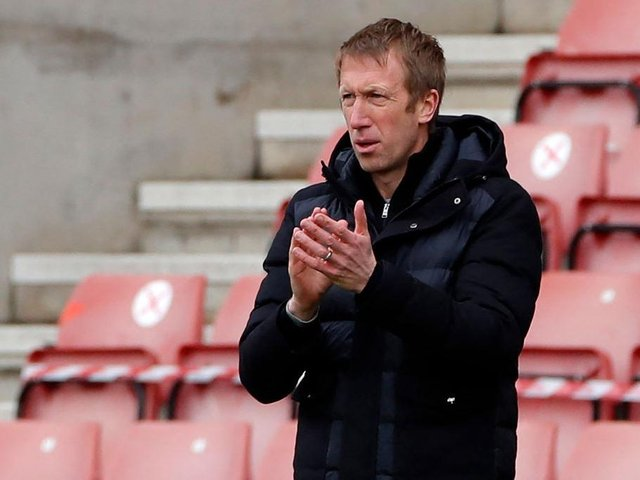 Graham Potter and Brighton were delayed at Stamford Bridge due to the protests on the European Super League