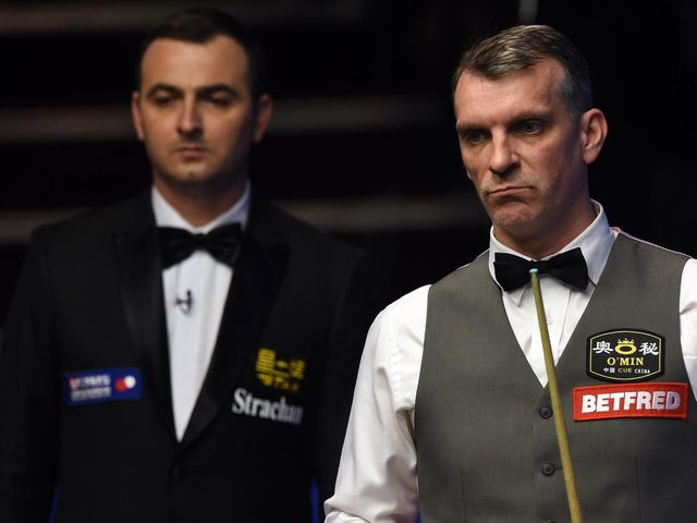Mark Davis at a previous world championships at The Crucible / Picture: Getty