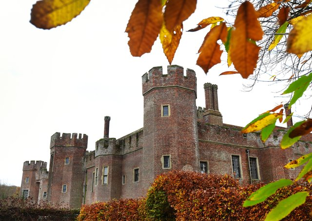 The grounds and gardens of Herstmonceux Castle will open as part of The National Garden Scheme. Photograph, taken in autumn 2020, by Justin Lycett/ SUS-201118-153741001