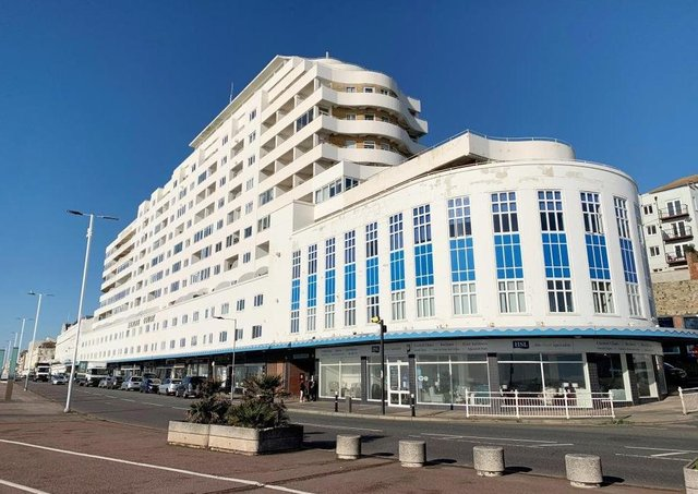 Two flats in Marine Court, St Leonards, will be auctioned off next month through Clive Emson Auctioneers. Photograph: Clive Emson Auctioneers