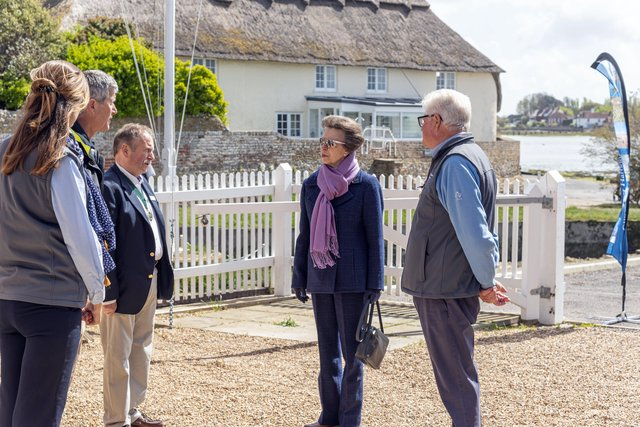 Her Royal Highness, The Princess Royal during a visit to Bosham on Wednesday, May 12, 2021. Picture: Paul Adams