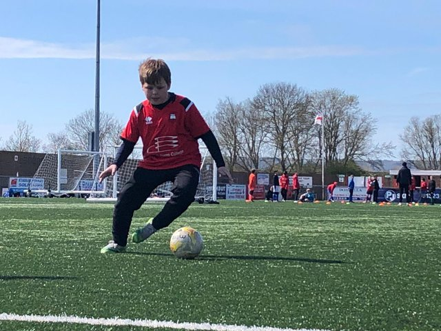 Holiday football fun for juniors at Eastbourne Borough