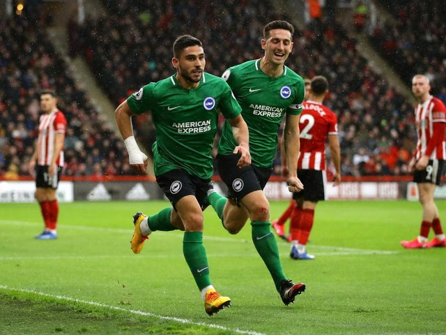 Neal Maupay scored against Sheffield United last season and returns to the starting XI
