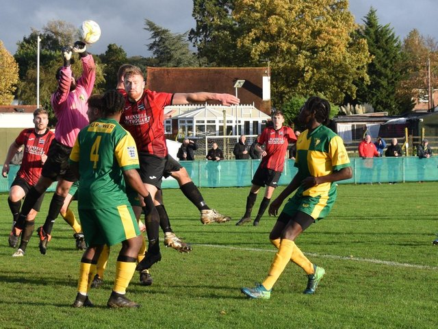 AFC Uckfield's first team in FA Vase action earlier this season / Picture: Mike Skinner