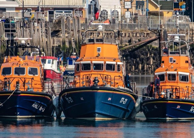 The lifeboats in Newhaven. Photo by Daniel Moon