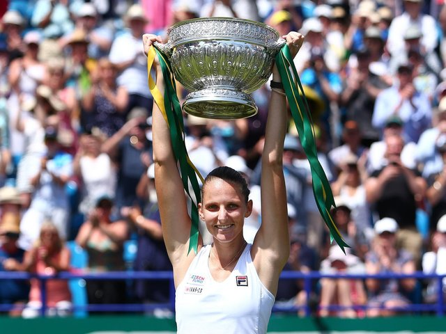 Karolina Pliskova won the women's singles at Eastbourne in 2019 - the event was cancelled last year / Picture: Getty