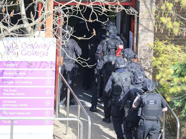 Police at Crawley College