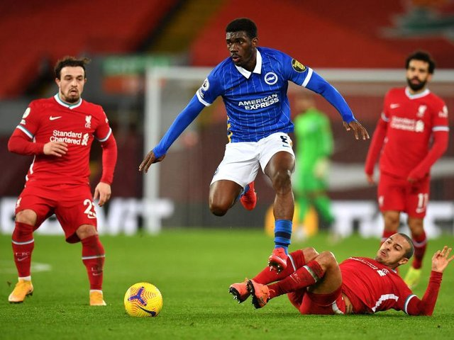 Brighton midfielder Yves Bissouma has been linked with a move to Liverpool this summer