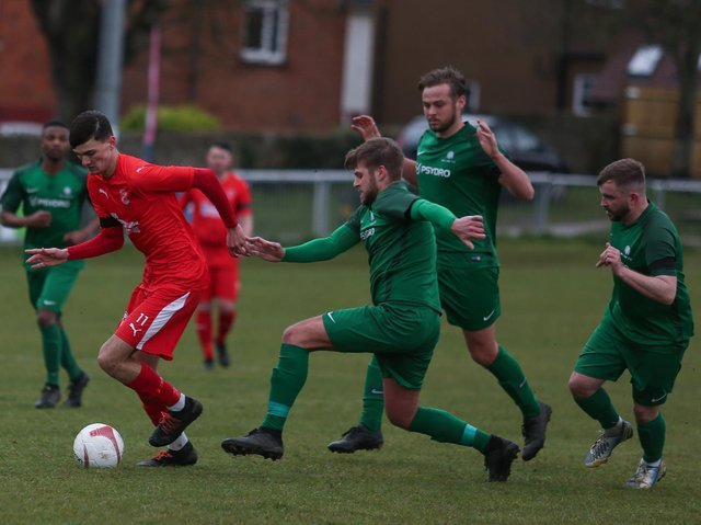 Seaford Town in SCFL Shield action against Mile Oak / Picture: Andy Pelling