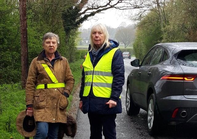 Joyce Dudeney and Councillor Cathy Mills