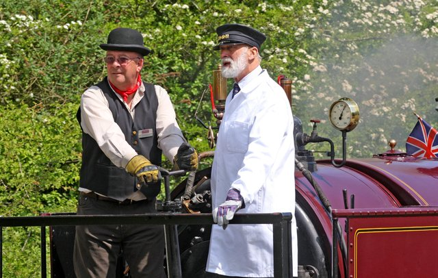 HOR 040411 Opening of lime kilns at Amberley Museum by Prince Michael of Kent. Prince Michael of Kent was invited to drive a train. photo by derek martin ENGSNL00120110405155151