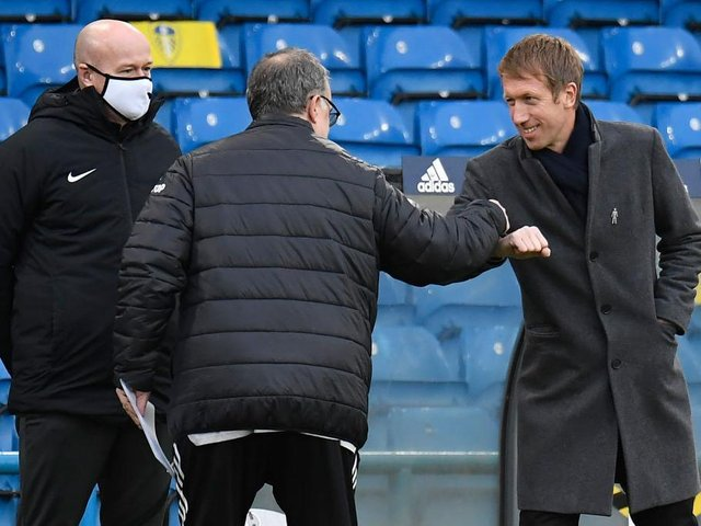 Graham Potter's Brighton beat Leeds 1-0 at Elland Road earlier this season