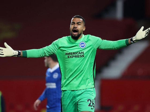 Robert Sanchez will take his place between the sticks as Leeds visit the Amex Stadium this afternoon