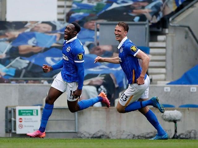 Danny Welbeck celebrates his goal against Leeds