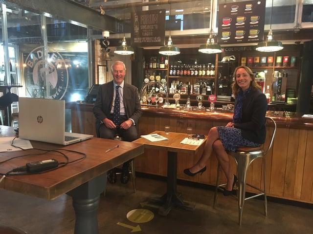 Mark Woodhouse and Lucinda Gray virtually hosting last years awards