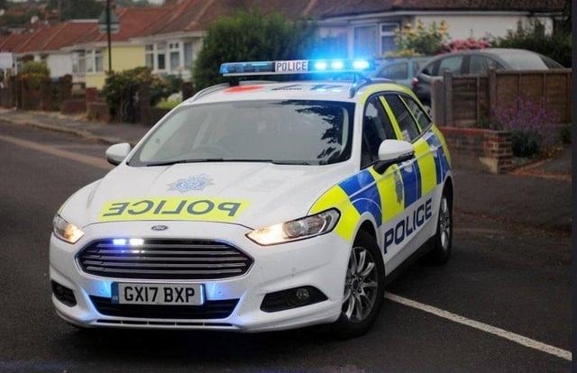 Sussex Police car. SUS-211003-192626001