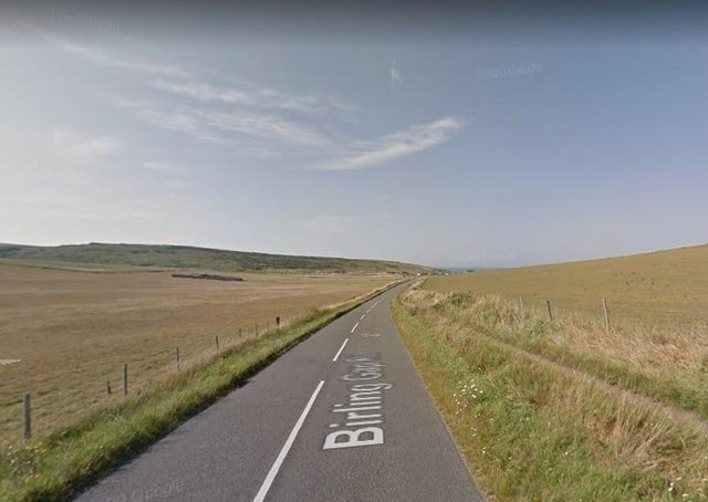 Birling Gap Road, East Dean. Photo from Google Maps. SUS-210505-153003001