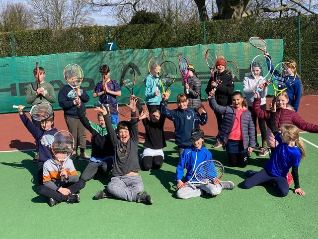 Youngsters enjoy tennis action and fun at Southdown Sports Club