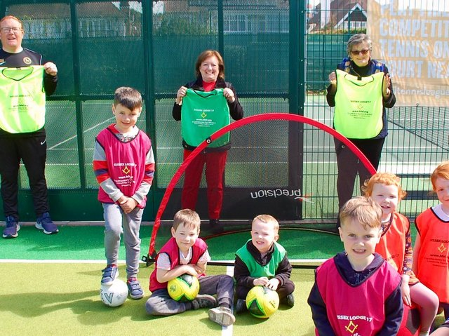 Freemasons have paid for equipment for young footballers linked to Eastbourne Rangers