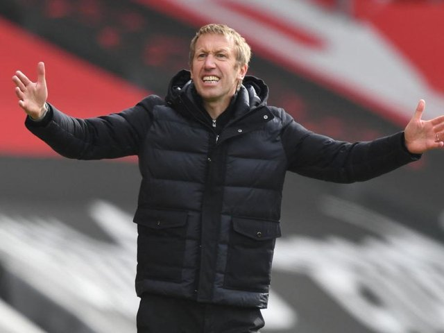 Albion boss Graham Potter has been linked with the job at Tottenham