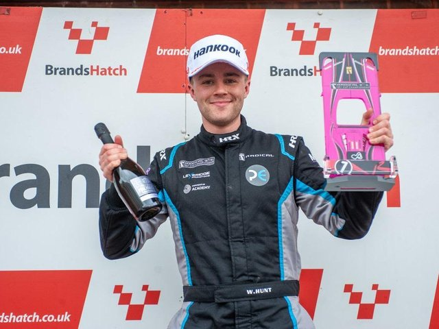Will Hunt celebrates his Brands Hatch success / Picture: Ollie Read Photography