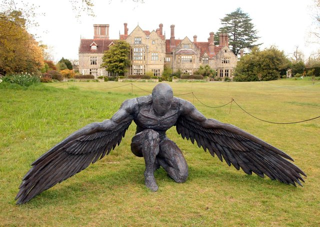 Ed Elliott's Greer, Guardian Angel – one of more than 80 sculptures on show at Borde Hill Garden, near Haywards Heath. Photograph: Derek Martin/ dm21050103a