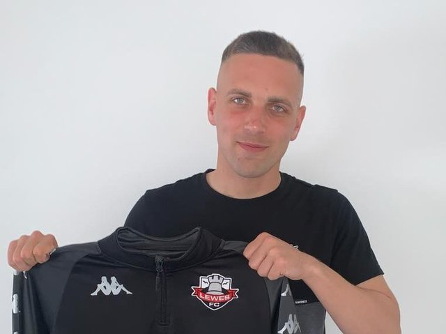 Lewes have announced the signing of prolific striker Joe Taylor. Picture courtesy of Lewes Football Club