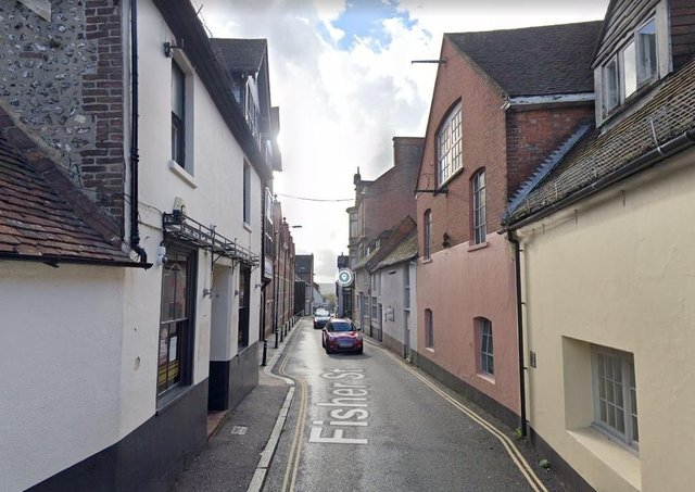 Fisher Street in Lewes, where the Lewes Climate Hub will be based. Photo: Google Streetview