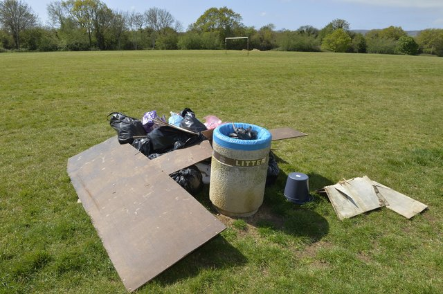 Some of the rubbish that residents from Patcham Mill Estate collected in Adur Park (Photo by Jon Rigby) SUS-211105-091621001