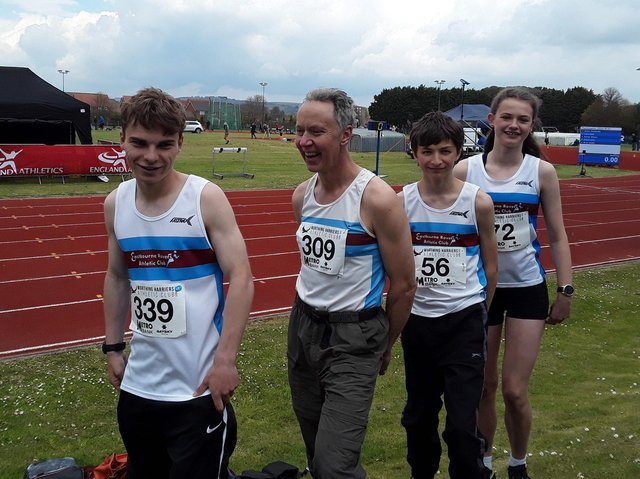 James Stephen,  Alan Rolfe, Ben Brown and Isabelle Chappell