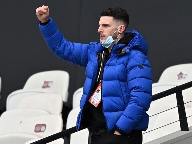 Declan Rice looks set to return from injury at Brighton