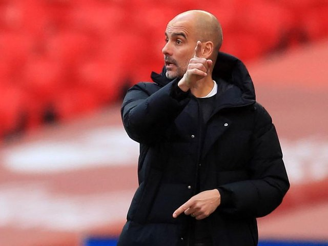 Pep Guariola's men could be boosted by return of midfielder Kevin De Bruyne for Brighton