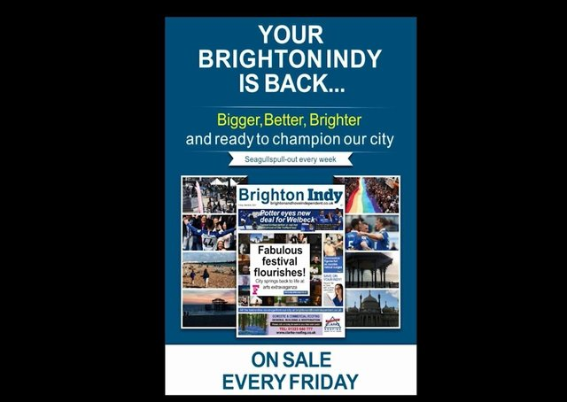 Your Brighton Indy is back from this Friday (May 21)