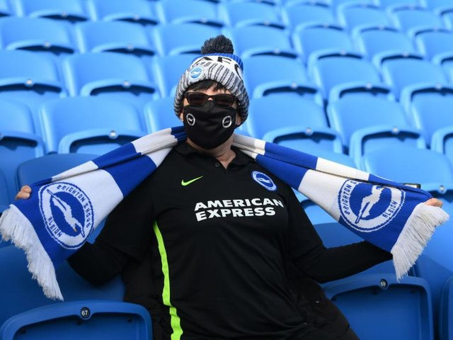 Brighton fans were happy to be back at the Amex Stadium