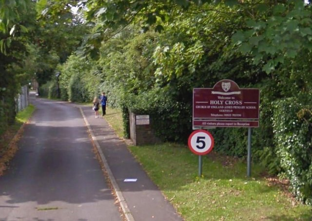 The entrance to Holy Cross School in Uckfield. Photo by Google Streetview