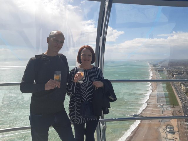 Visitors take flight on Brighton's i360 as it reopens