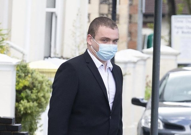 Evan McClelland outside Worthing Magistrates Court SUS-210519-152119001
