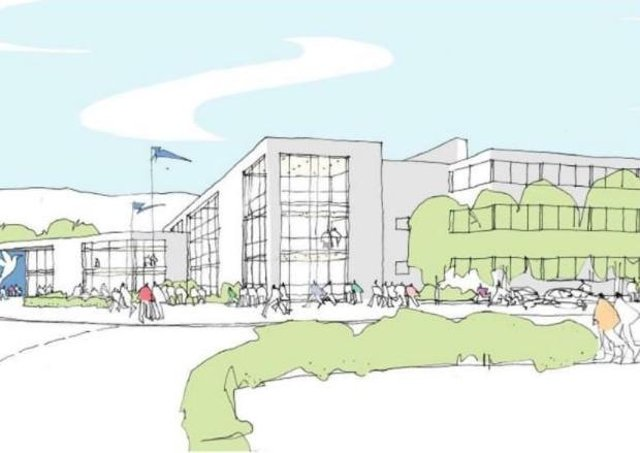 The proposed new frontage at the campus in Lewes