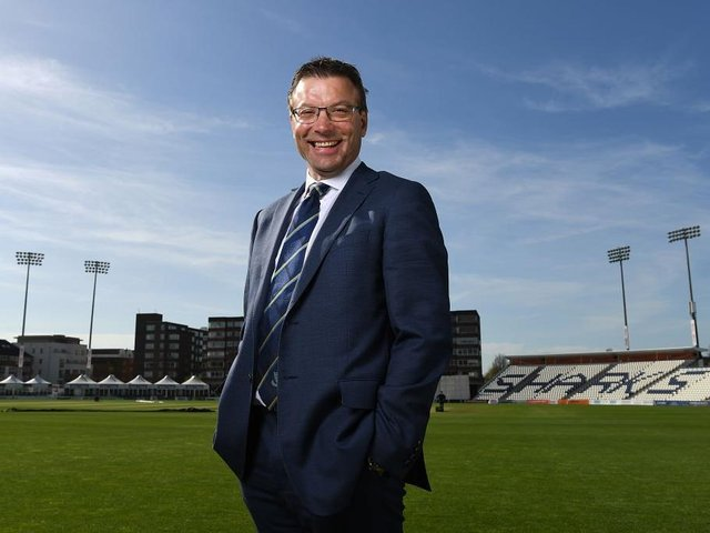 Rob Andrew at the County Ground