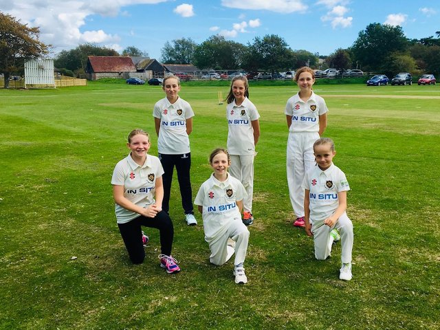 Girls' cricket is growing at Glynde