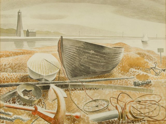 Seaside Modern - anchor and boats, Rye, private collection 1938