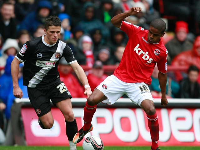 Bradley Pritchard (right) in action for Charlton Athletic in 2012. Picture by PA Wire/Press Association Images