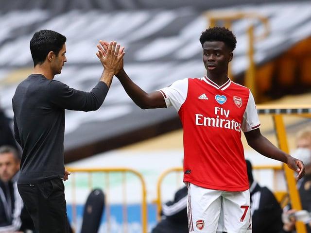 Bukayo Saka has flourished under the guidance of Mikel Arteta